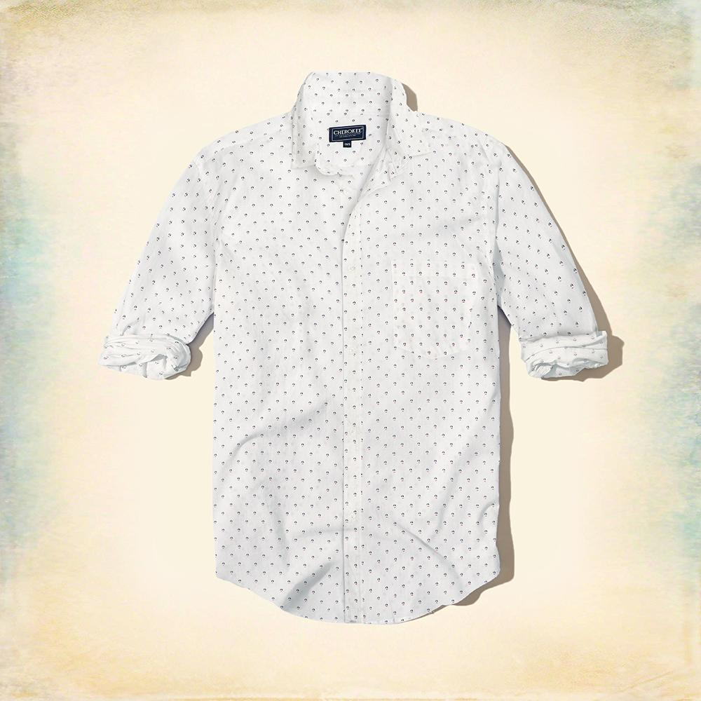Cherokee white 'regular fit' printed shirt (1067)