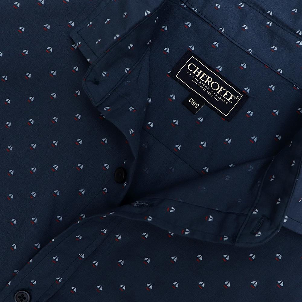 Cherokee navy 'regular fit' printed shirt (1068)