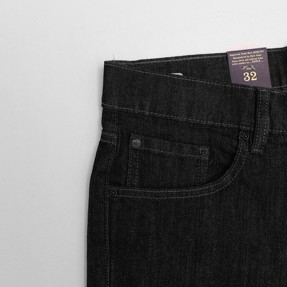 Rfl black rinse washed 'relaxed fit' jeans (1614)