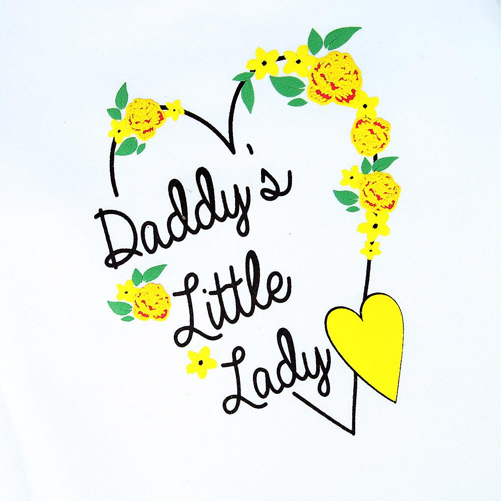 Girls Printed 'Daddy's Little Lady' Heavy Fleece Premium Sweatshirt (21030)