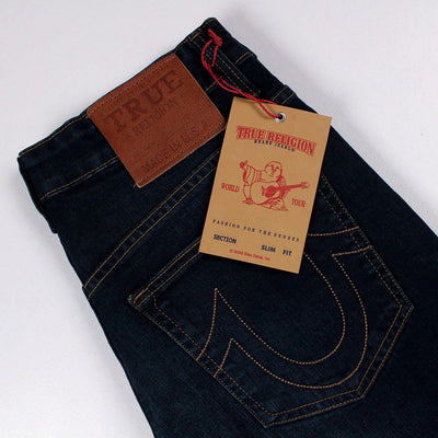 TRUE RELIGION-exclusive kurt 'slim fit' stretch low rise jeans
