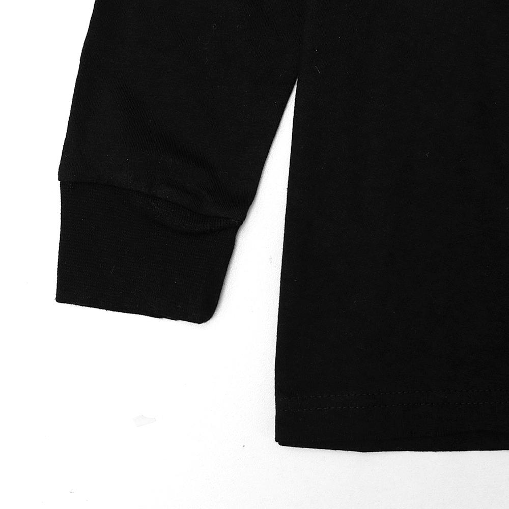 Soft Black Crew neck cotton long Sleeve shirt (30115)