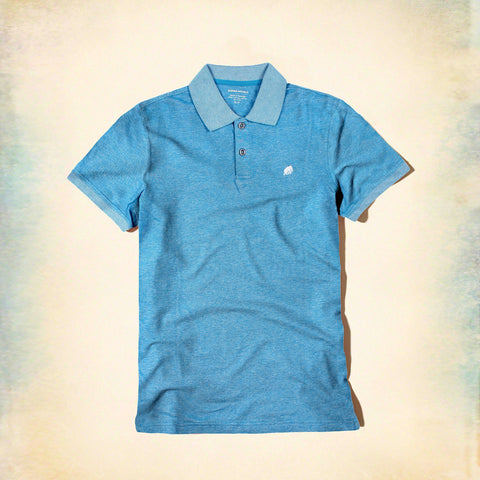 BANANA REPUBLIC-exclusive zinc blue slub signature pique polo