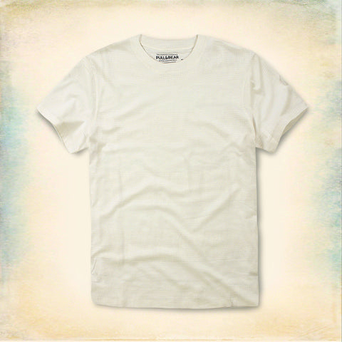 PULL&BEAR-self textured t-shirt