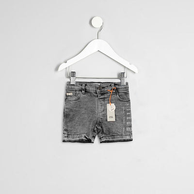 RIVER ISLAND-kids printed grey denim short