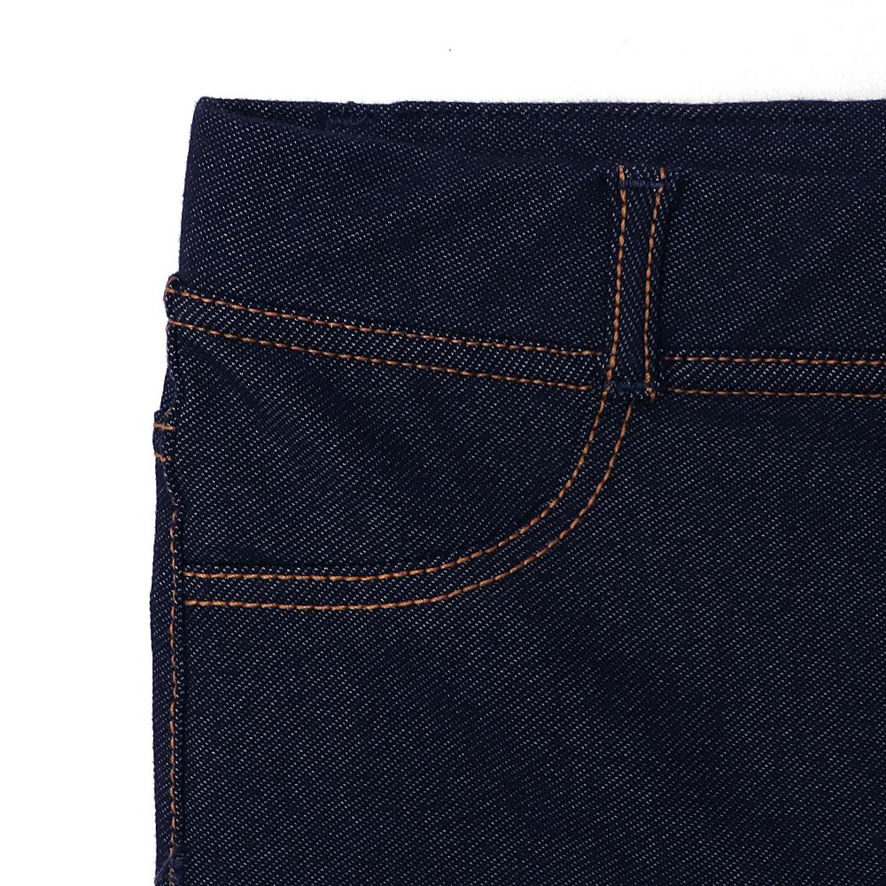 Girls high waisted super stretch navy jeggings (2583)