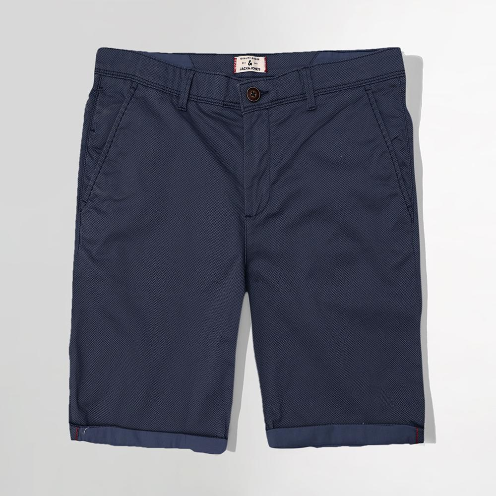 Premium Quality Blue self Printed Chino Shorts (2551)