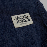 JACK & JONES-exclusive slim fit modern western dark wash denim shirt