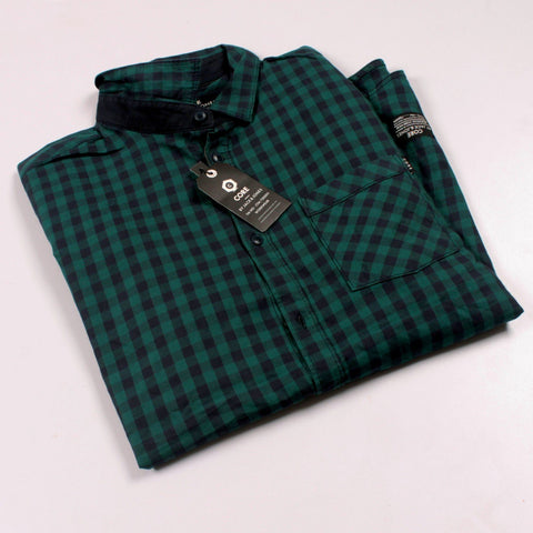 JACK & JONES-exclusive 'slim fit' soft green gingham check shirt