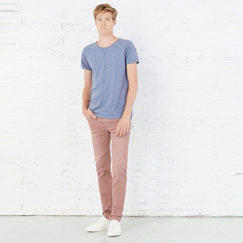 SPRING FIELD-light pink 'skinny fit' low rise cotton chino (SP-011)