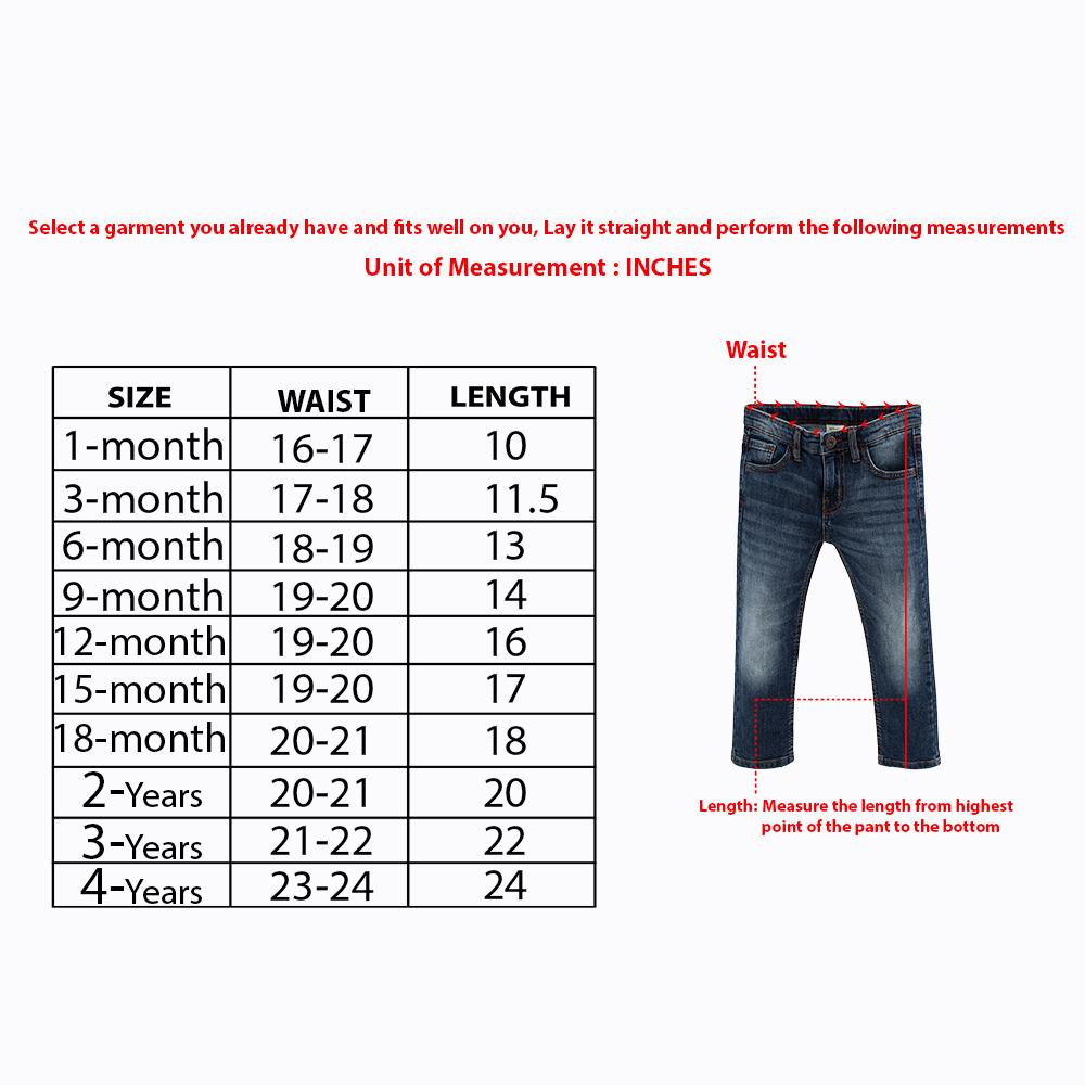 Premium Quality Chicco Kids Soft Stretch Jeans (30068)