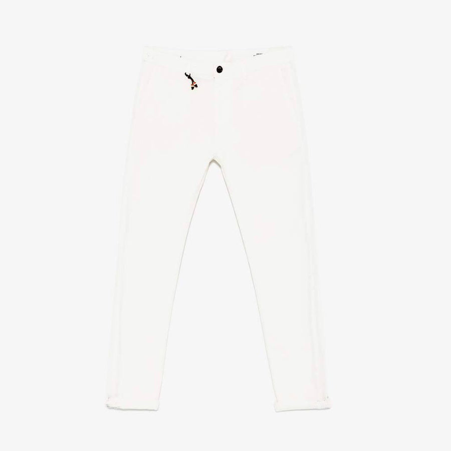 ZARA-exclusive white 'skinny fit' stretch cotton chino