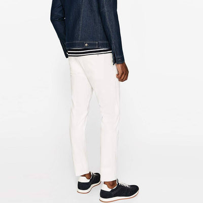 ZARA-exclusive white 'skinny fit' stretch chino