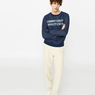 PULL&BEAR-indigo blue message sweatshirt