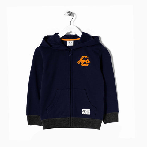 ZIPPY-Boys fleece zipper with chest printing