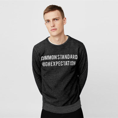 PULL&BEAR-black message sweatshirt