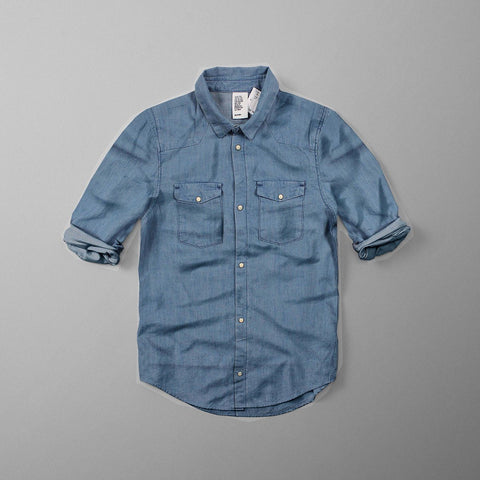 H&M-boys light washed denim shirt