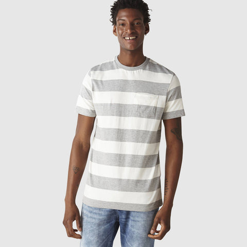 CELIO-slim fit two-tone stripes t-shirt