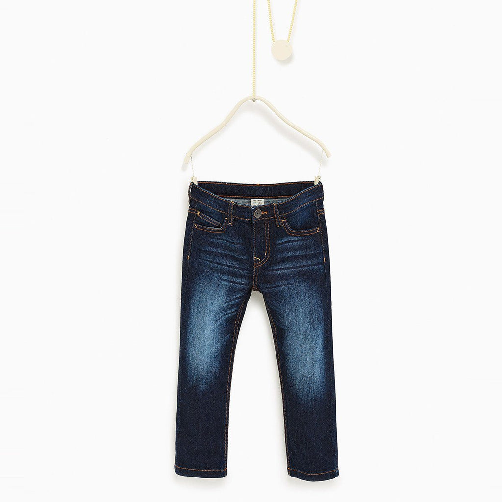 ZARA-boys dark blue stretch denim