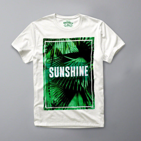 JACK & JONES-slim fit sunshine white graphic t-shirt
