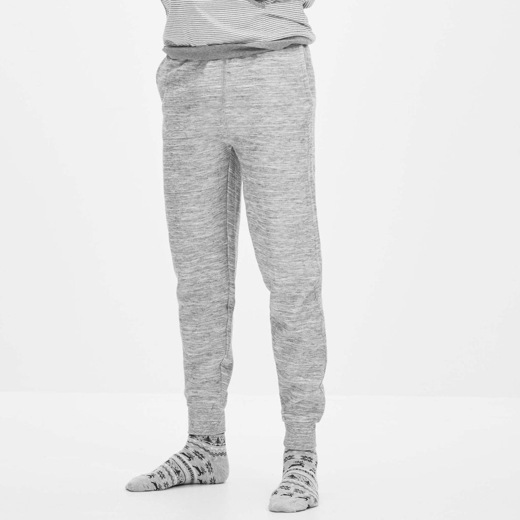 CELIO-grey melange 'slim fit' jogger trouser