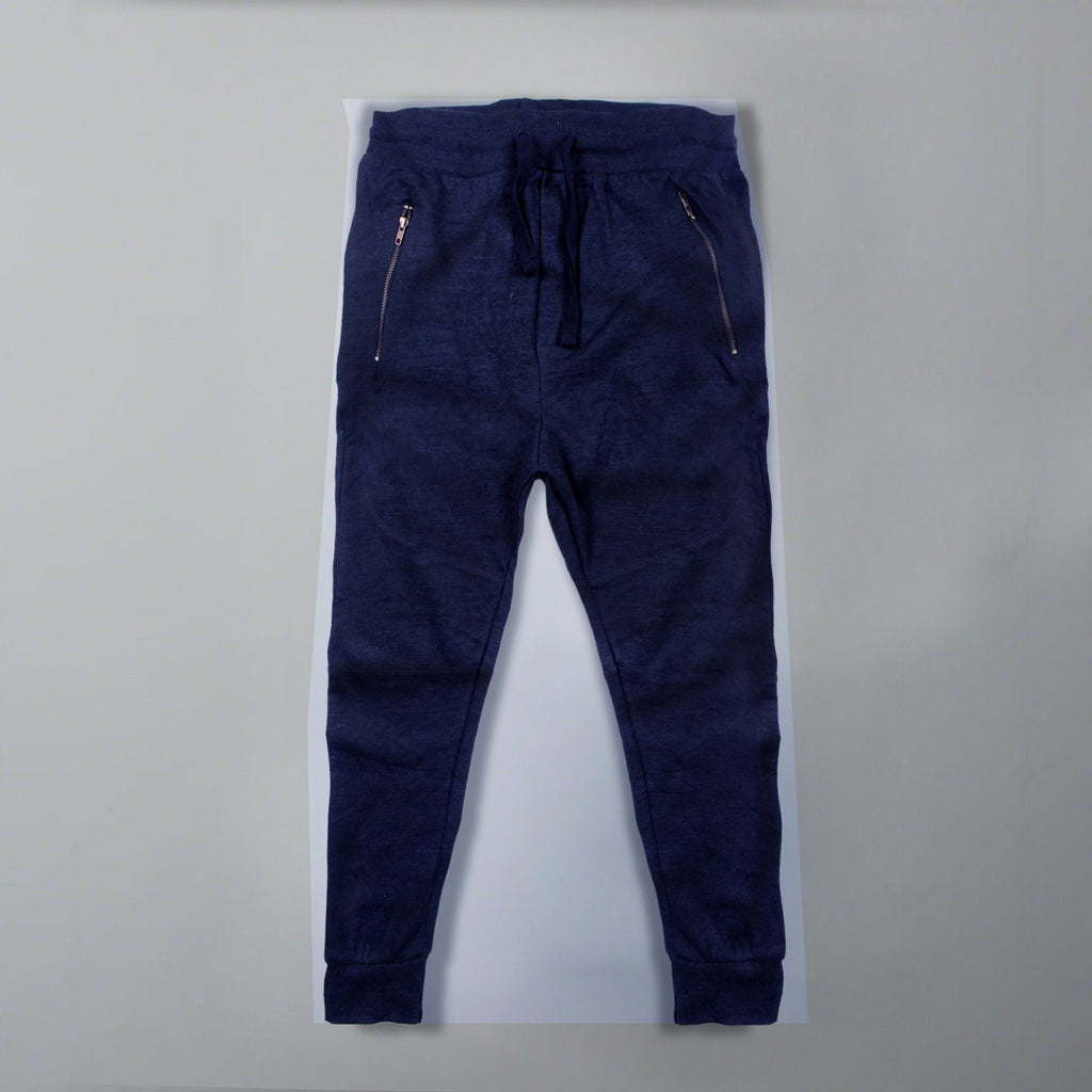 BERSHKA-blue trouser with zip pocket