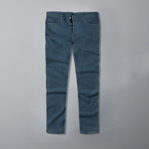 F&F-blue 'slim fit' stretch jeans