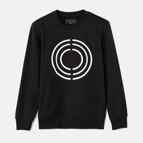 CELIO-black printed sweatshirt