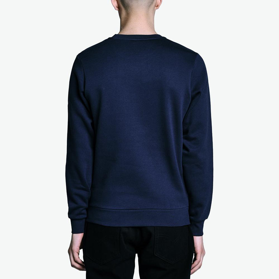 SERGIO TACCHINI-navy ioab fleece sweatshirt
