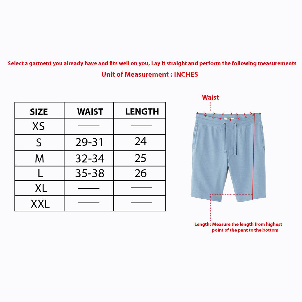 Men two tone textured zipper pocket shorts (2585)
