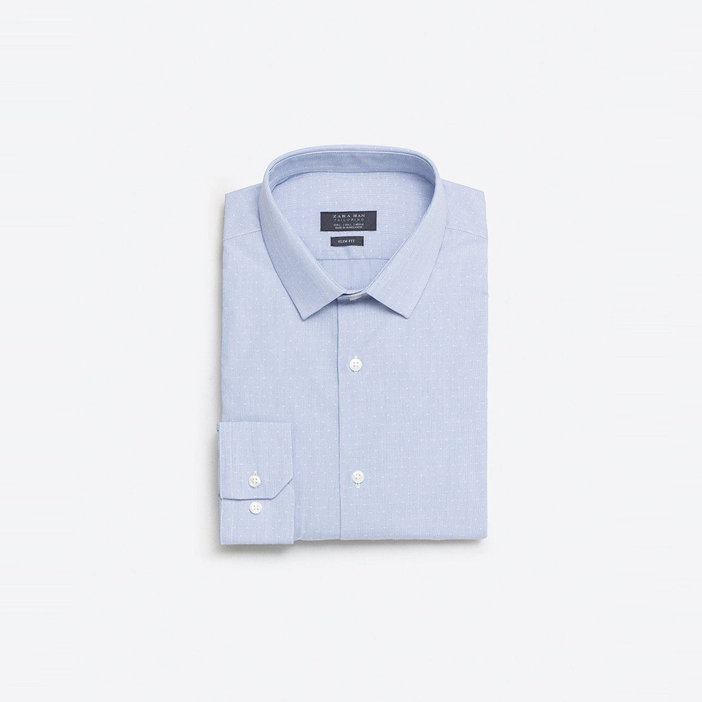 ZARA-slim fit jacquard shirt
