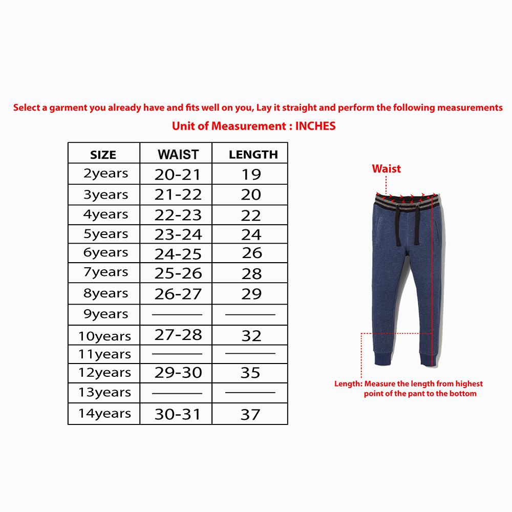 Boys Premium Quality Fleece Embroidered Jogging Trouser (30066)