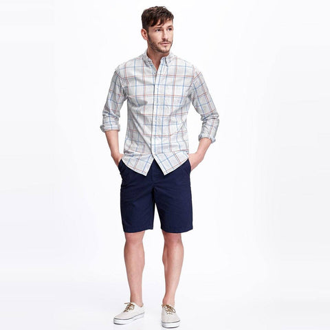 OLD NAVY-heathered plaid shirt