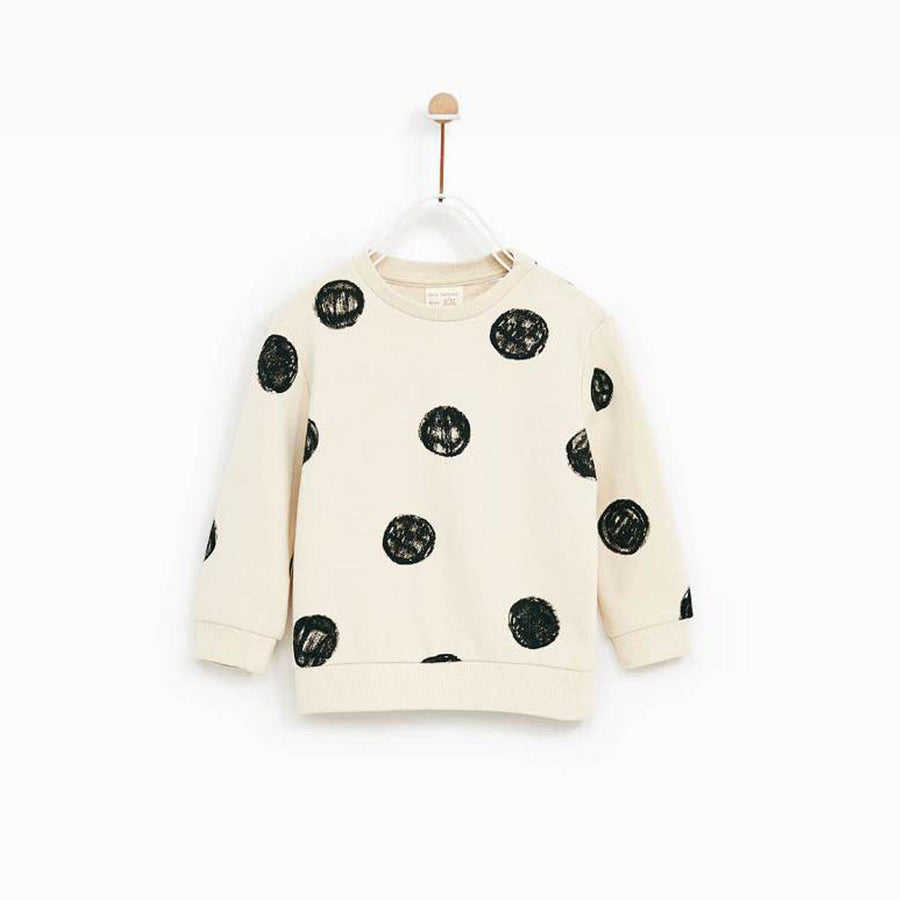 ZARA-kids scribble dots sweatshirt (564)