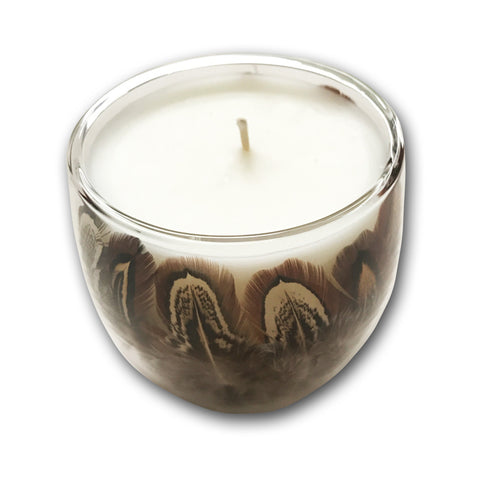 Cock Pheasant - winter candle