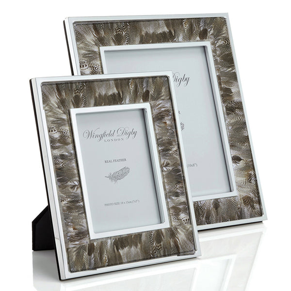 Duck Feather & Glass Photo Frame