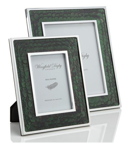 Green pheasant photo frame by Wingfield Digby