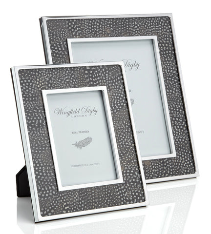 Guinea Fowl feather photo frames