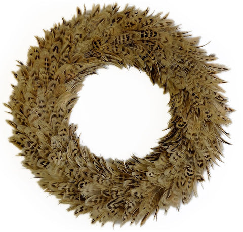 Hen Pheasant feather wreath