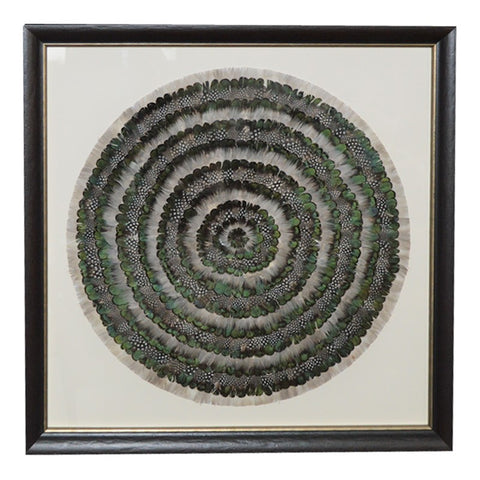 Mixed Green Feather Wall Art