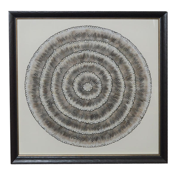 Mixed White Feather Wall Art