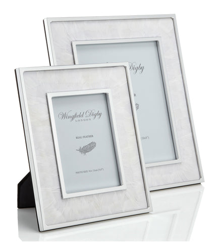 Goose feather photo frames