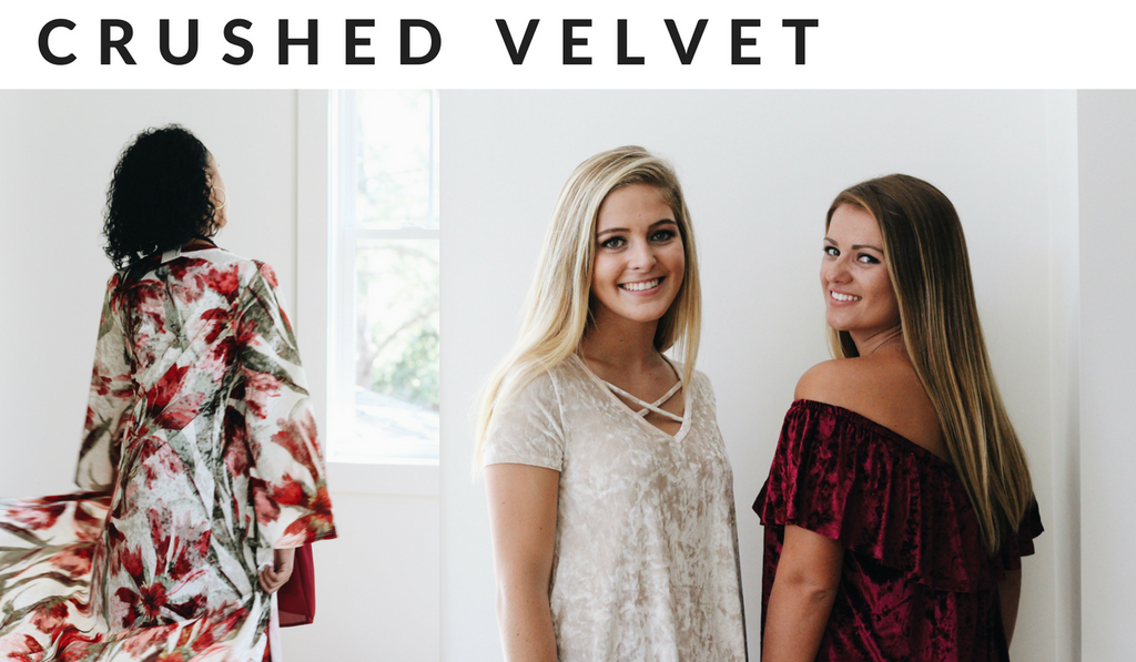 Crushed Velvet tops and dusters from Beaufort Proper Fall 2017 Boutique Fashion Trends