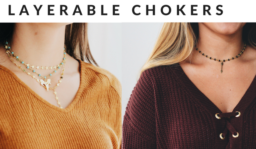 raw and rebellious layered choker necklaces for tailgates