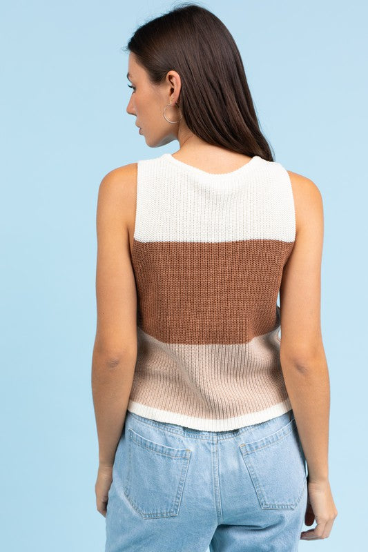 Camryn sweater tank