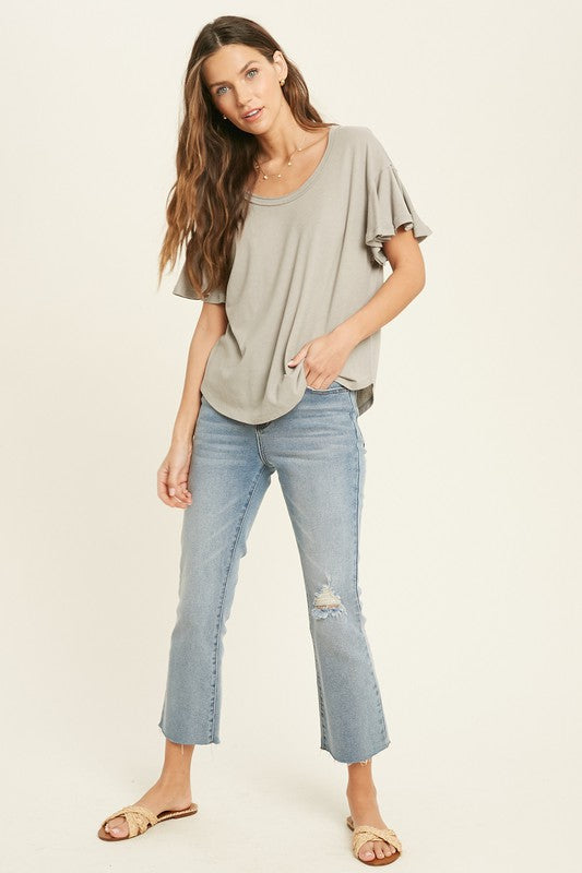 Harper Flutter sleeve top