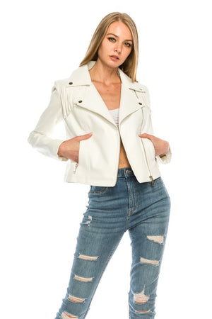 Tenley Faux leather jacket-Arrives 2-25