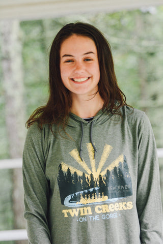 Camp Twin Creeks 'On the Gorge' - Long Sleeve Hoodie