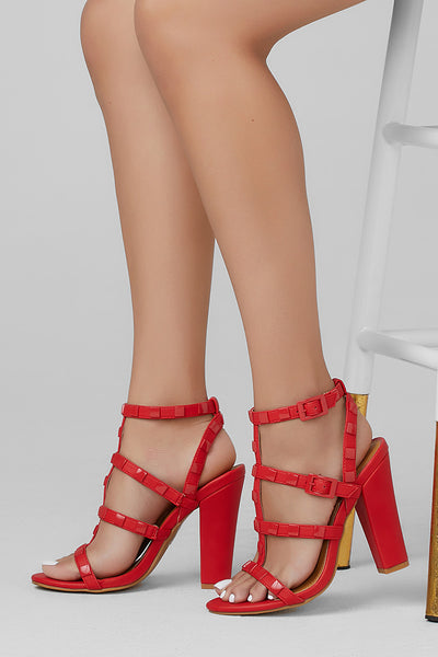 7bbee440a1 Rodney Red Strappy Chunky Heel -Shop Shoes at Chris and Mae's! – Chris &  Mae's Shoetique