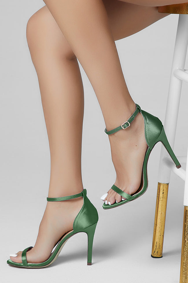 Lava Single Sole High Heel Green